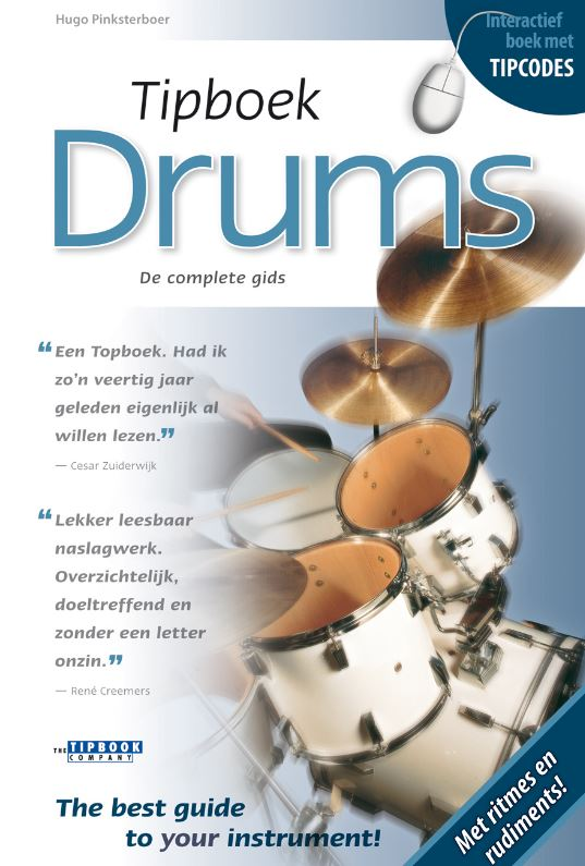 Tipboek Drums t.w.v. € 17,50