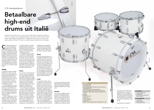CVL Standard serie drums - Test uit Slagwerkkrant 177