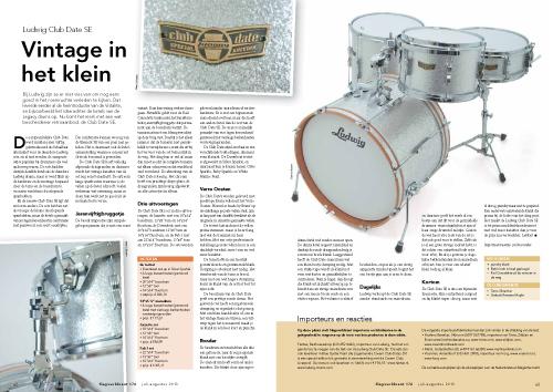 Ludwig Club Date SE drumkit - Test uit Slagwerkkrant 176