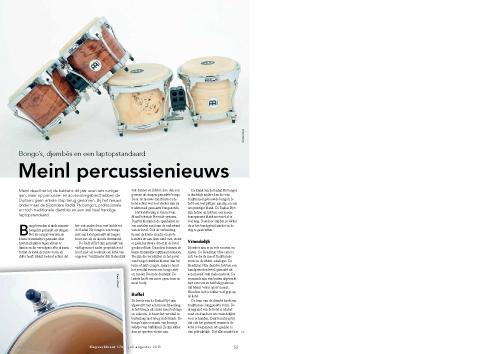 Meinl percussienieuws - Test uit Slagwerkkrant 176