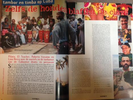 Cuba-artikel Slagwerkkrant 90