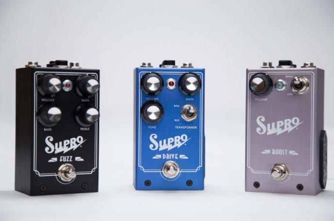 Supro lanceert eerste effectpedalen