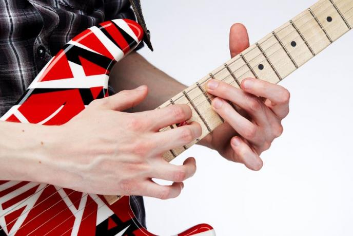 Shredden als Eddie Van Halen in Special Gitaarhelden