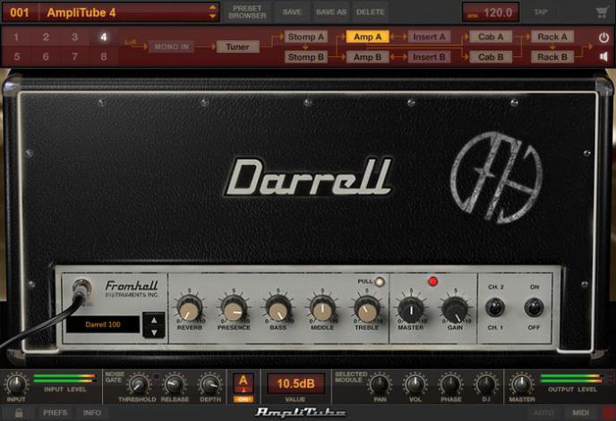 Dimebag Darrell bundel van AmpliTube
