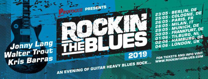 Rockin the Blues festival met topgitaristen Walter Trout, Jonny Lang en Kris Barras