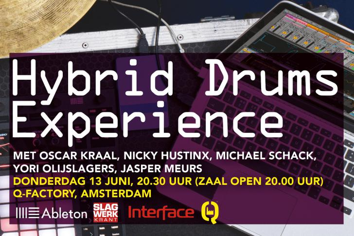 Hybrid Drums Experience in Q-Factory Amsterdam - 13 juni 2019