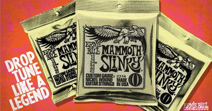Nieuwe snaren van Ernie Ball - Mammoth Slinky