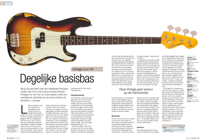 Vintage Icon V4 - test uit Gitarist 337