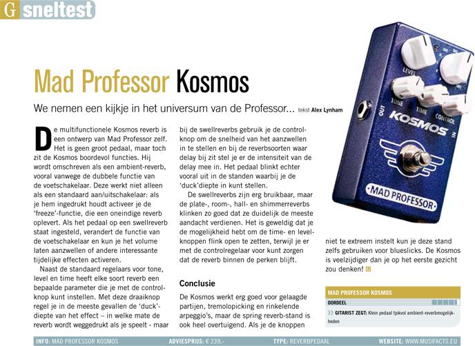 Mad Professor Kosmos - test uit Gitarist 337