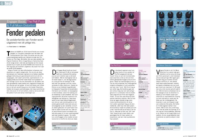 Fender Engager Boost, The Pelt Fuzz & Full Moon Distortion - test uit Gitarist 337