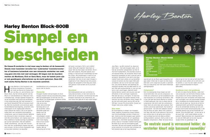 Harley Benton Block 800-B