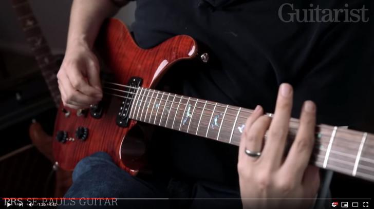 Video bij de PRS test in Gitarist 341