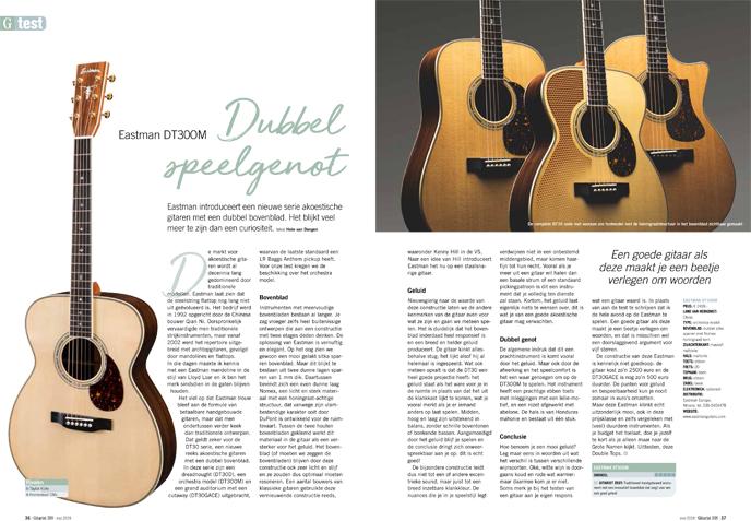 Eastman DT30OM - test uit Gitarist 338