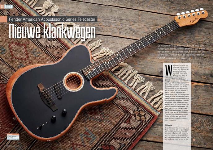 Fender American Acoustasonic Series Telecaster - test uit Gitarist 338