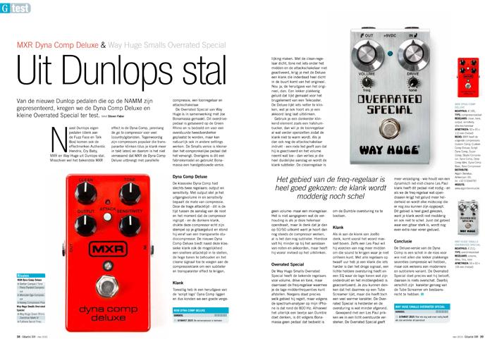MXR Dyna Comp Deluxe & Way Huge Smalls Overrated Special - test uit Gitarist 338