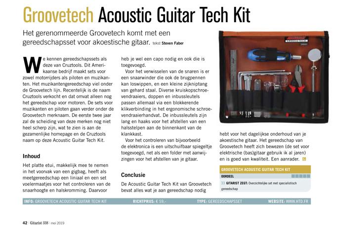 Groovetech Acoustic Guitar Tech Kit - test uit Gitarist 338