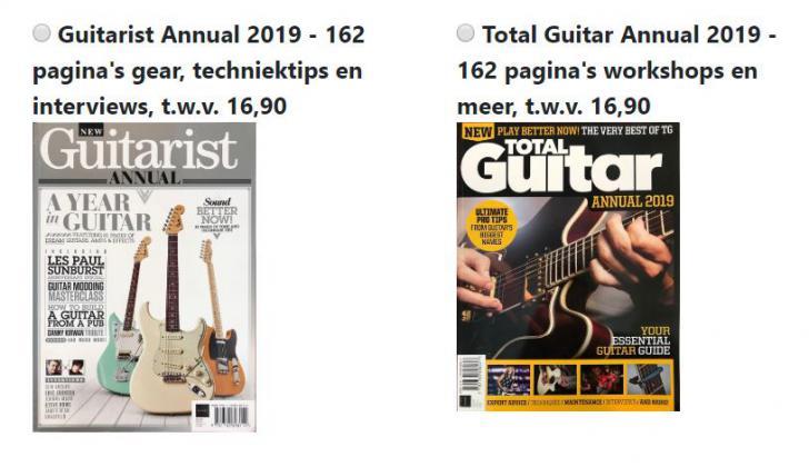 Jaarboeken van Guitarist en Total Guitar