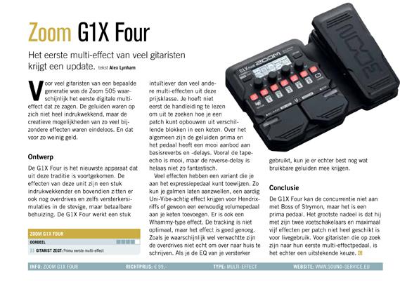 Zoom G1X Four - test uit Gitarist 339