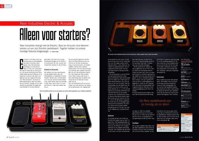 Nexi Industries Electric & Acoustic - test uit Gitarist 339