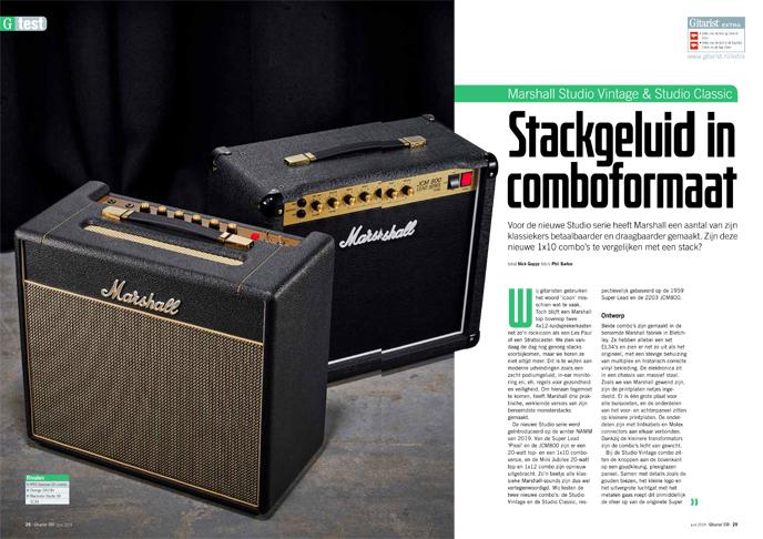 Marshall Studio Vintage & Studio Classic - test uit Gitarist 339