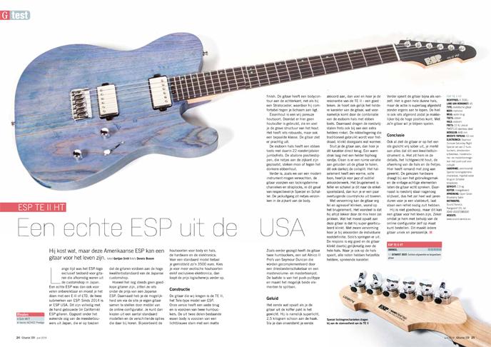 ESP TE II HT - test uit Gitarist 339