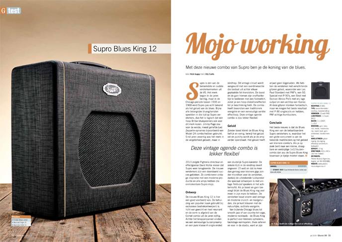 Supro Blues King 12 - test uit Gitarist 340