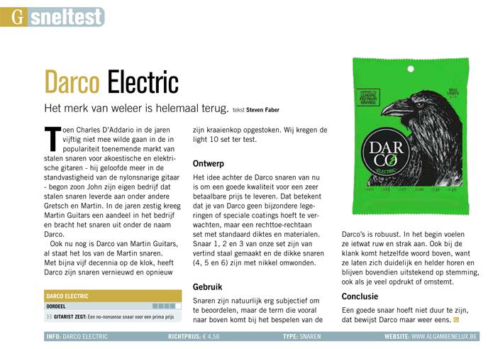 Darco Electric - test uit Gitarist 340