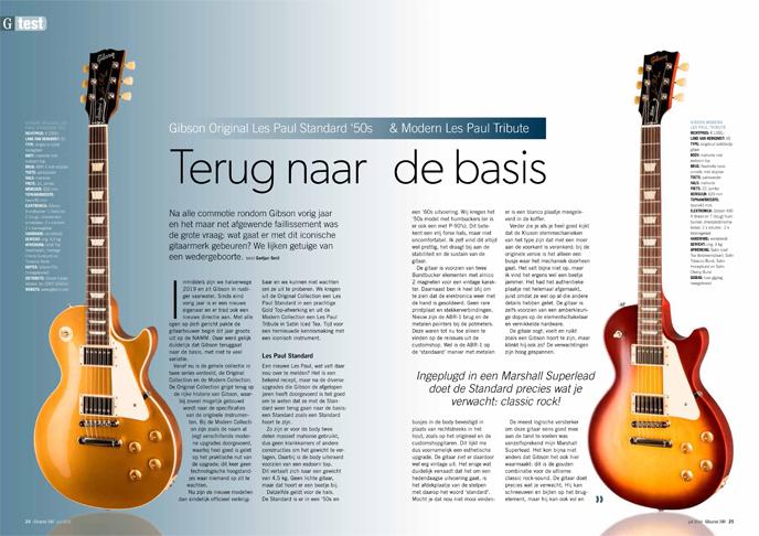 Gibson Original Les Paul Standard '50s & Modern Les Paul Tribute - test uit Gitarist 340