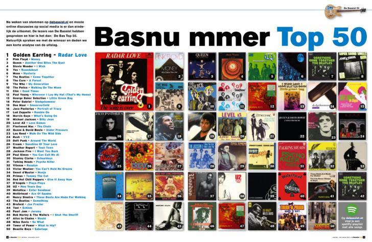 De Bas Top 50 - gekozen door de lezers van De Bassist