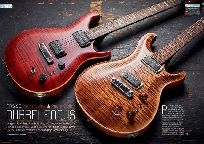 PRS SE Pauls Guitar & Pauls Guitar - test uit Gitarist 341