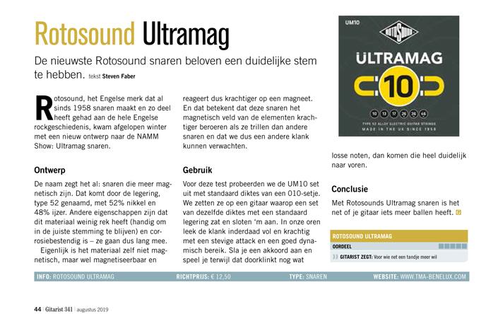 Rotosound Ultramag - test uit Gitarist 341