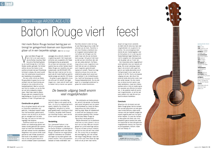 Baton Rouge AR20C ACE-LTD - test uit Gitarist 341