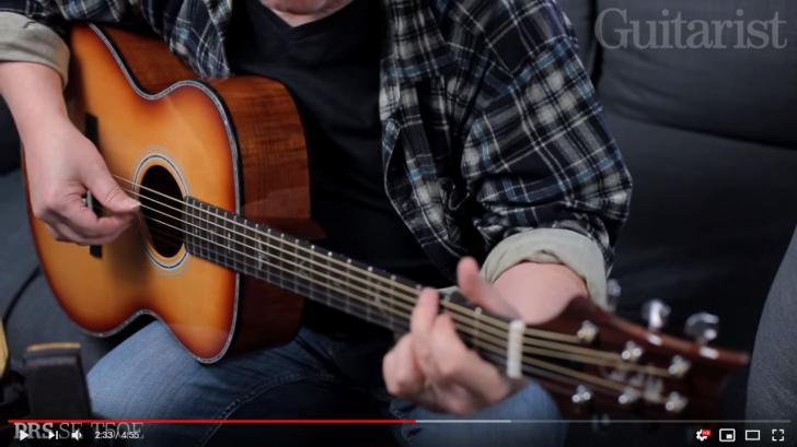 Video bij de PRS test in Gitarist 346