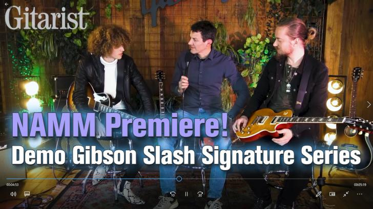 NAMM 2020 beursnieuws: Video onthulling Gibson Slash Collection