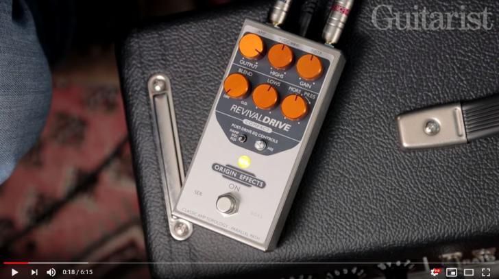 Video bij de Origin Effects test in Gitarist 347