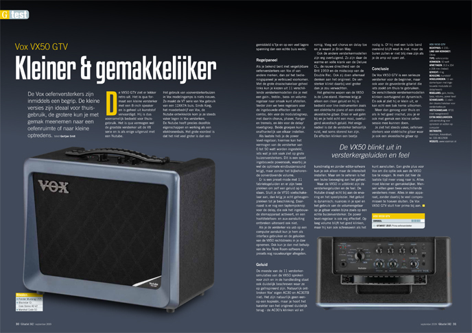 Vox VX50 GTV - test uit Gitarist 342