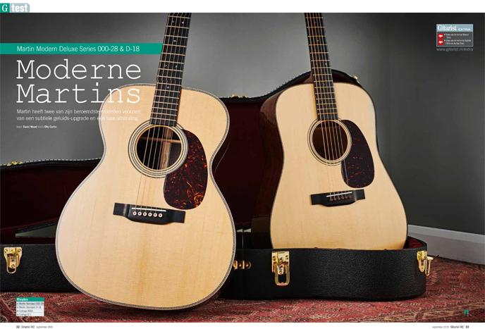 Martin Modern Deluxe Series 000-28 & D-18 - test uit Gitarist 342