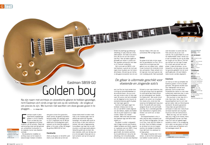 Eastman SB59 GD - test uit Gitarist 342
