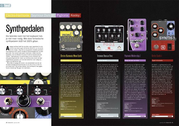 Electro-Harmonix Seymour Duncan Pigtronix Keeley - test uit Gitarist 342