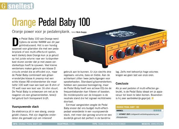 Orange Pedal Baby 100 - test uit Gitarist 342