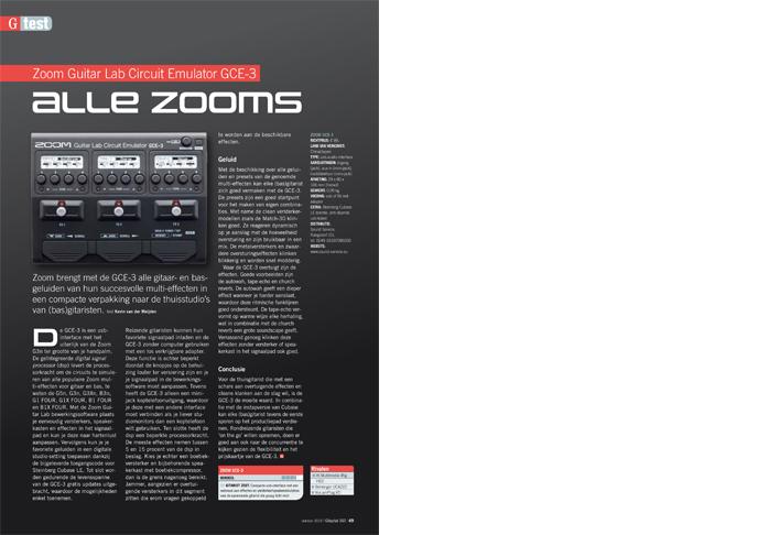 Zoom Guitar Lab Circuit Emulator GCE-3 - test uit Gitarist 343