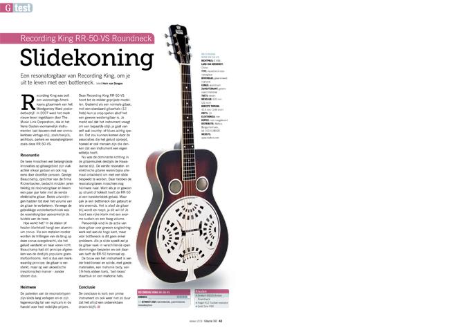 Recording King RR-50-VS Roundneck - test uit Gitarist 343