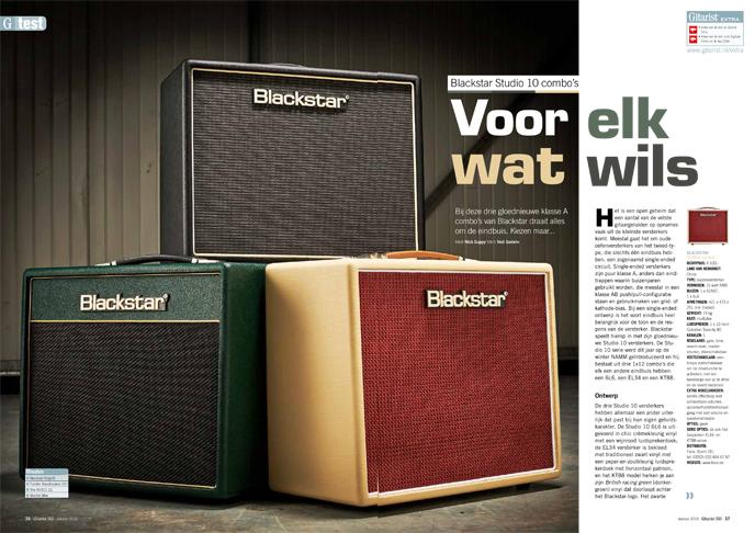 Blackstar Studio 10 combo's - test uit Gitarist 343