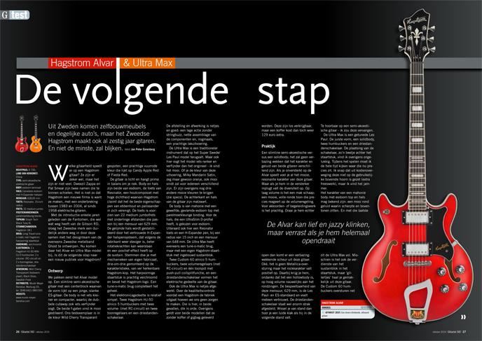 Hagstrom Alvar & Ultra Max - test uit Gitarist 343