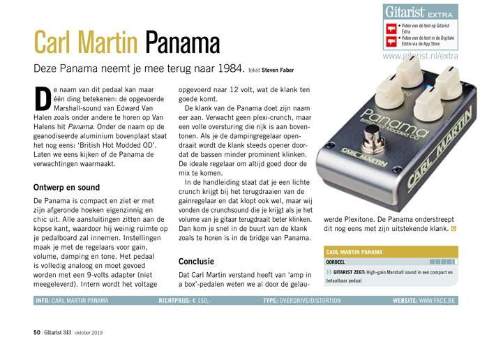 Carl Martin Panama - test uit Gitarist 343