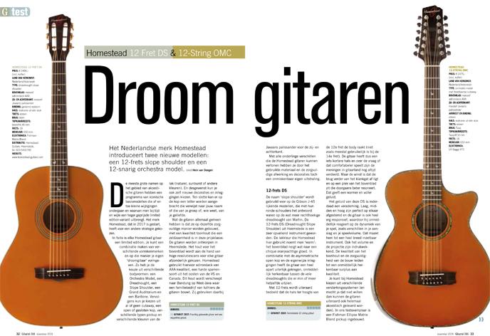 Homestead 12 Fret DS & 12-String OMC - test uit Gitarist 344