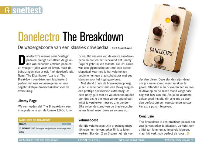 Danelectro The Breakdown - test uit Gitarist 344