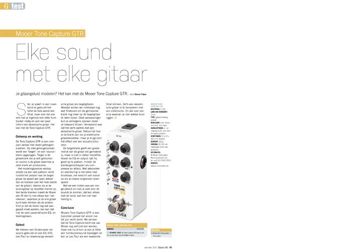Mooer Tone Capture GTR - test uit Gitarist 345