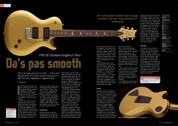 PRS SE Santana Singlecut Trem - test uit Gitarist 345