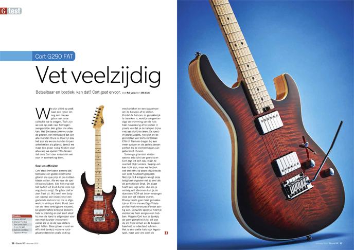 Cort G290 FAT - test uit Gitarist 345
